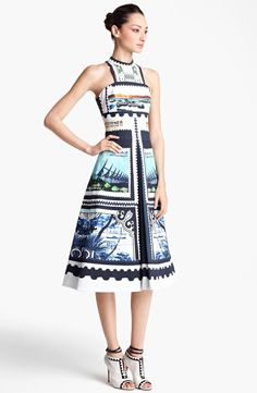 Mary Katrantzou 'Kathmandu Print' A-Line Dress