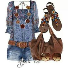 Love this 70's look! Love my jeans.