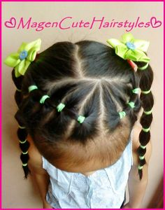 girl hairstyles There is always a way to make your kids amazingly adorable with kids hairstyles for girls. Dont think it as something hard to do. Even stylish hairstyles for little gir Lil Girl Hairstyles, Princess Hairstyles, Braided Hairstyles, Childrens Hairstyles, Stylish Hairstyles, Toddler Hairstyles, Mixed Baby Hairstyles, Braids For Kids, Girls Braids