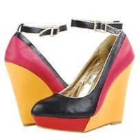 Casa Colour Block Mary Jane Wedges.  Fabulous!