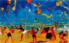 παιχνιδοκαμώματα στου νηπ/γειου τα δρώμενα: Χαρταετοί, Αγήνωρ Αστεριάδης !!! Greek Art, Kite, Scene, Artist, Blog, Painting, Google, Carnival, Paintings