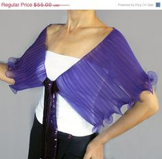 ON SALE Purple Capelet in Ruffled Organza Statement by mammamiaeme