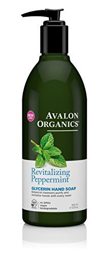 Avalon Organics Glycerin Hand Soap Revitalizing Peppermint 12 Fluid Ounce *** Check this awesome product by going to the link at the image.