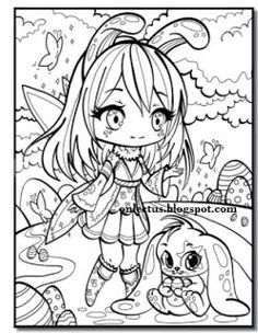 Lectus Coloring Book Chibi Girl By Jade Summer
