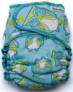 goodmama - Orson Owl  Cotton/Poly Print with Teal Interior  March 2009 Collection