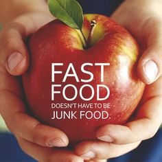 Apples, oranges, pears, grapes, carrots, and many more healthy foods are fast. Next time you're hungry, reach for something healthy ;) http://www.onesteptoweightloss.com/shakeology-results