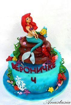Mermaid cake Торт Русалочка Ариэль