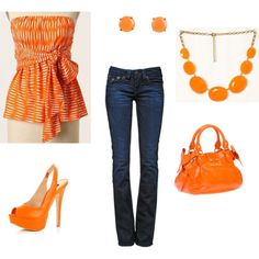 Orange - love the top... but not the accessories