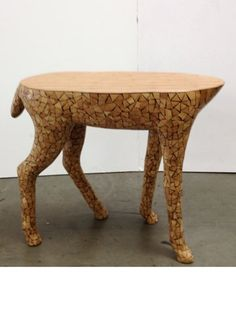 Delicieux Wood Mosaic Reindeer Table! Adorable, Unaffordable.