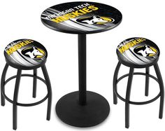 Michigan Tech Huskies D2 Black Pub Table Set. Available in two table widths. Visit SportsFansPlus.com for Details.