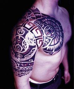 Polynesia Maori Tribald Tattoo Dwayne Johnson The Rock Tattoo