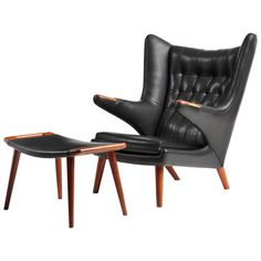 Papa Bear Chair and Ottoman by Hans J. Wegner