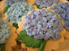 Hydrangea Mother's Day Cookies :)