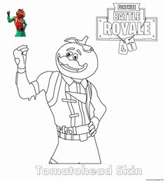 Tomatohead Skin Fortnite coloring pages printable and coloring book to print for free. Find more coloring pages online for kids and adults of Tomatohead Skin Fortnite coloring pages to print. Turtle Coloring Pages, Cool Coloring Pages, Animal Coloring Pages, Coloring Pages To Print, Printable Coloring Pages, Free Coloring, Coloring Books, Coloring Sheets For Kids, Online Coloring Pages