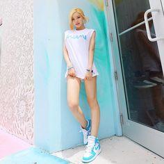 DJ Soda - The Hottest Female DJ in Seoul - Magazine korean girls in Oppa Record Collection, Korean Model, Traditional Dresses, Girl Photos, Seoul, Korean Girl, Amazing Women, White Shorts, Beautiful People