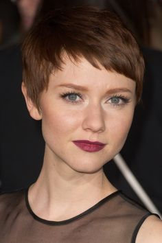 cute pixie haircut with a fringe