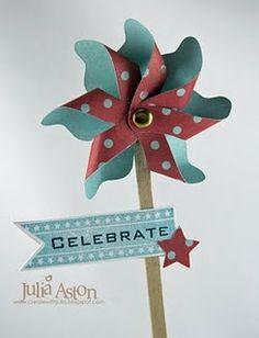 love pinwheels!  I see this as a magic wand...oh yeah!
