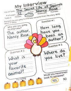 November Reading homework made easy.