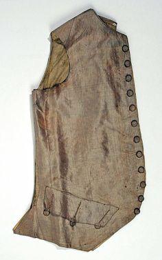 18th century, America or Europe - Waistcoat - Silk, linen