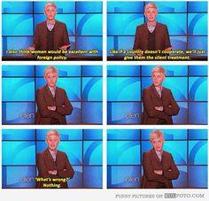#Ellen >>>>