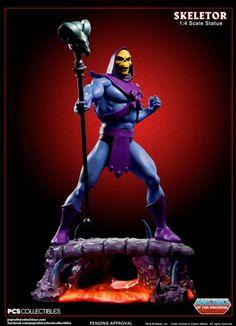 Estatua Skeletor, Masters del Universo. 54cm, Pop Culture Shock