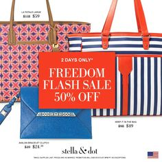 50% 0FF at Stella & Dot on gorgeous red, white & BLUE-ti-ful customer faves just in time for the 4th! Quantities are limited and sale ENDS at 9pm ET Wednesday, June 10!