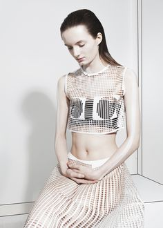 Martijn van Strien has launched a new fashion brand with a collection of unisex garments that are laser cut into shapes based on architecture. Fashion Line, Fashion Week, Fashion Details, Fashion Brand, Fashion Art, New Fashion, Editorial Fashion, High Fashion, Fashion Design