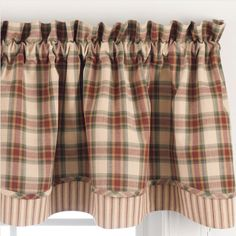 Country Curtains | Cinnamon Layered Valance