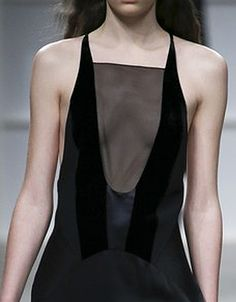 Visibly Interesting: Transparency - black dress with sheer insert; chic fashion details // Aquilano Rimondi Fall 2016