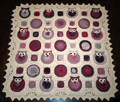 Looking for crocheting project inspiration? Check out Pink Sands Owl Obsession Afghan by member nessiedmf.