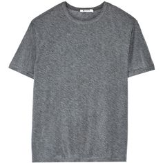 T by Alexander Wang Cotton-blend jersey T-shirt ($80) ❤ liked on Polyvore featuring tops, t-shirts, shirts, t shirts, grey, t by alexander wang t shirt, grey tee, jersey cotton t shirts and cotton jersey
