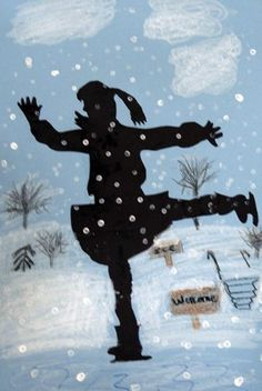 Artsonia Art Museum :: Silhouette Skaters- Figure drawing/proportions