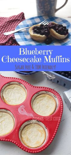 These scrumptious blueberry cheesecake muffins are sugar free, and perfect for…
