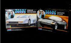 80's Vintage Miami Vice Daytona Spyder & Ferrari Testarossa Monogram Car Model Kits