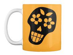 Dia De Los Muertos Athletic Gold Mug