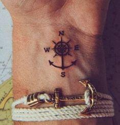 38 Ideas tattoo frauen kompass anker – Tattoo Model And Advice Small Tattoos Men, Small Anchor Tattoos, Small Forearm Tattoos, Trendy Tattoos, Foot Tattoos, Cute Tattoos, Tattoos For Women, Sleeve Tattoos, Finger Tattoos