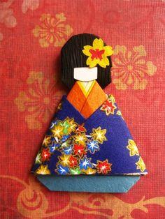 Japanese origami paper doll Momiji