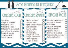 Tryin to make a home: GO - Organize your house cleaning / Organisez le nettoyage de votre maison