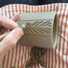 Image result for texture techniques for ceramic cups