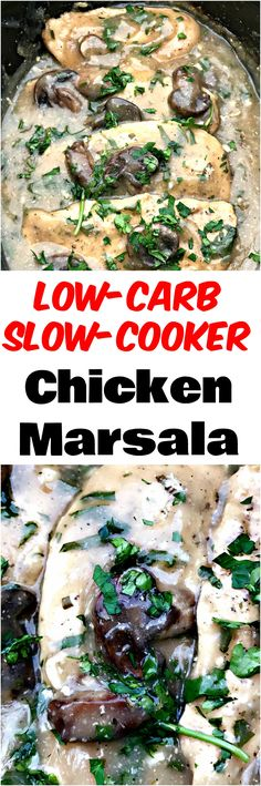 Slow Cooker Chicken Marsala is an easy crockpot, creamy Italian recipe with marsala wine, juicy chicken breasts, mushrooms, and a decadent sauce. This dish is inspired by Olive Garden and is great for meal prep and weeknight dinners.
