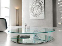 Cattelan Italia Glas Couchtisch Kadir Rund Rundes Italienische Designermöbel