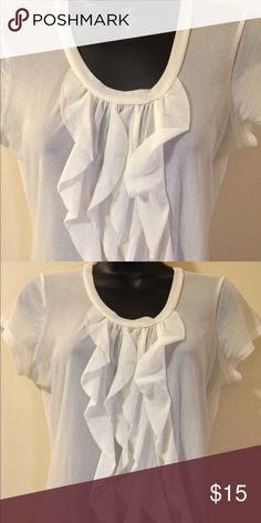 The Limited white top The Limited white sheer top in great condition. Size small. The Limited Tops Blouses