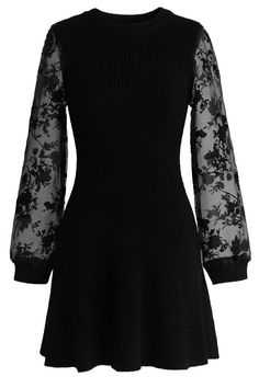 Fab Focus Knitted Dress in Black - New Arrivals - Retro, Indie and Unique Fashion
