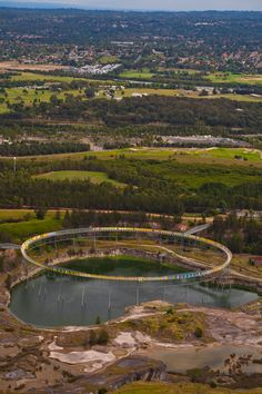 The Brick Pit Ring - an aerial walkway near Sydney, Australia's Olympic Park; designed by Durbach Block Architects