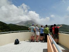 At the Montserrat Volcano Observatory looking toward the Soufriere Hills Volcano: 15 Years On Conference - Magma Cum Laude ...