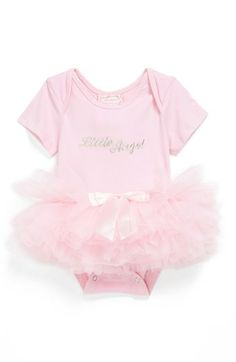 Popatu 'Little Angel' Tutu Bodysuit (Baby Girls) available at #Nordstrom