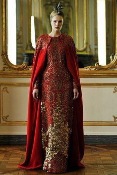 Alexander McQueen F/W 2010RTW (inspired by wedding saris?)