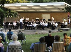 Cape Girardeau Municipal Band, playing  it's summer 2012 season on Wednesday nights--more details at Visitcape.com!  Photo courtesy of the Southeast Missourian.