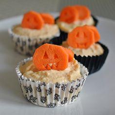 Rezept: Halloween Kürbis Cupkakes für Hunde selbst machen