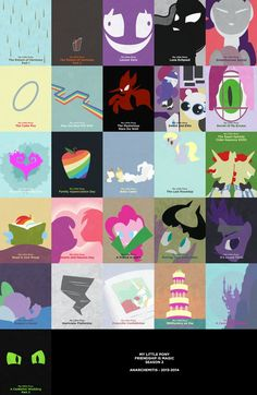 MLP Minimalist - Season 2 by anarchemitis on deviantART